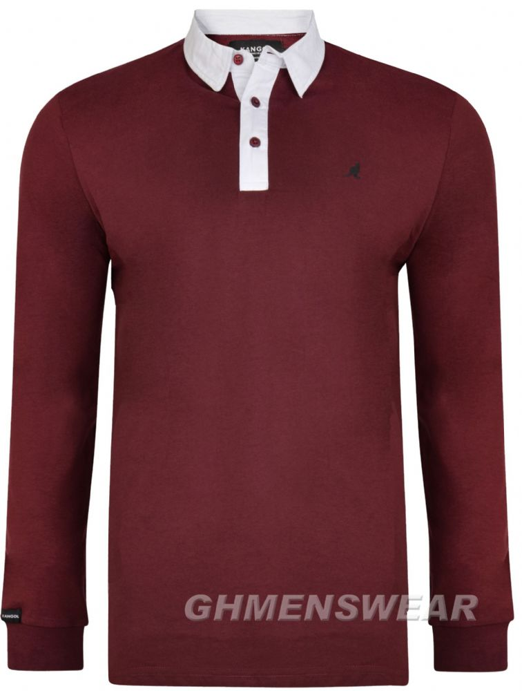 KANGOL SVEN Long Sleeve Rugby Shirt - Port